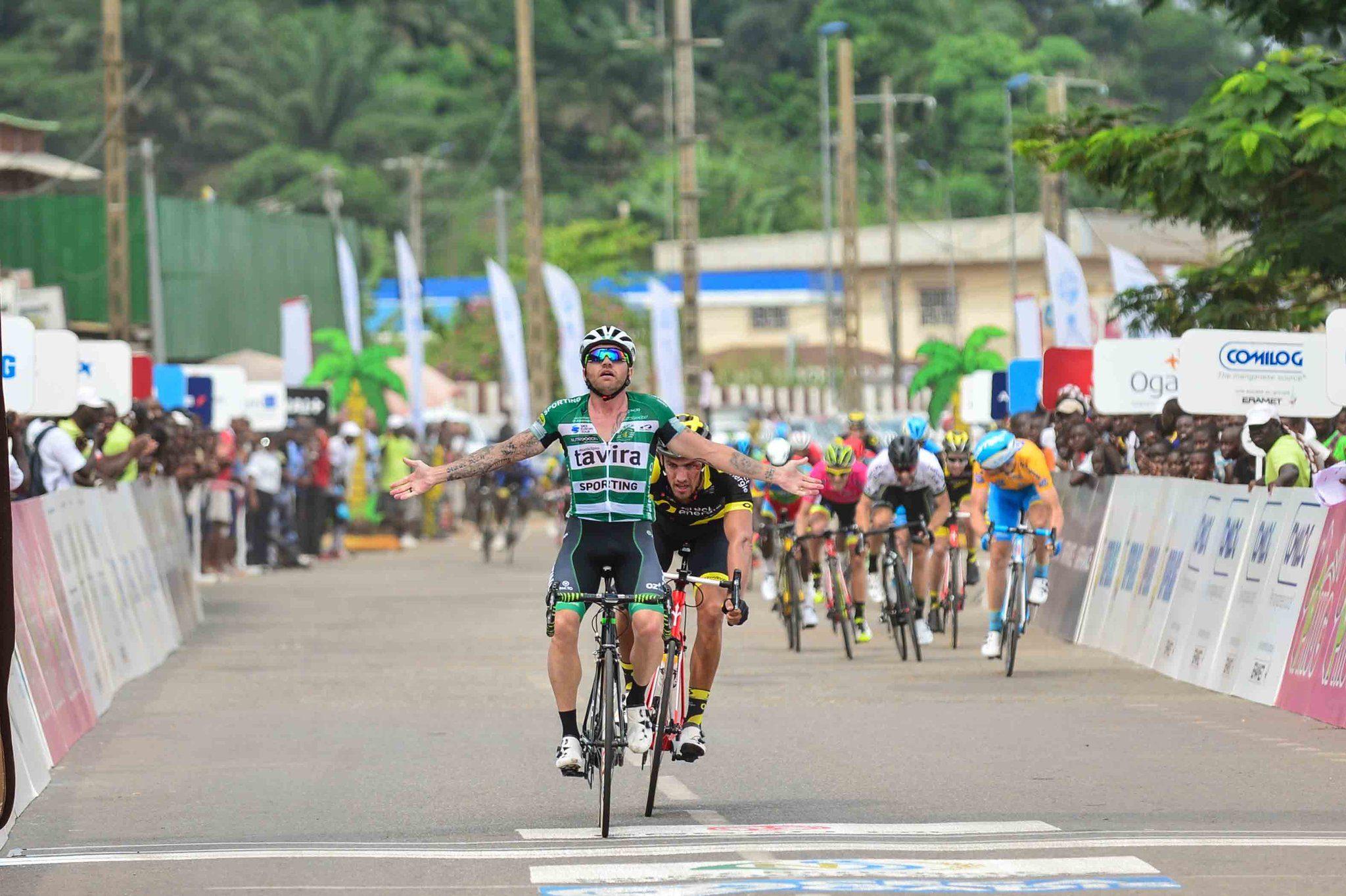 40-летний Ринальдо Ночентини выиграл третий этап велогонки La Tropicale Amissa Bongo