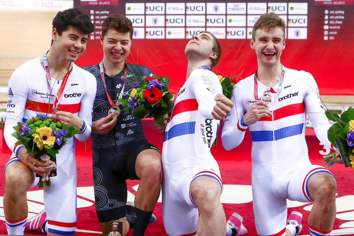 Российские велогонщики взяли серебро и бронзу в командной гонке преследования на Кубке мира в Минске