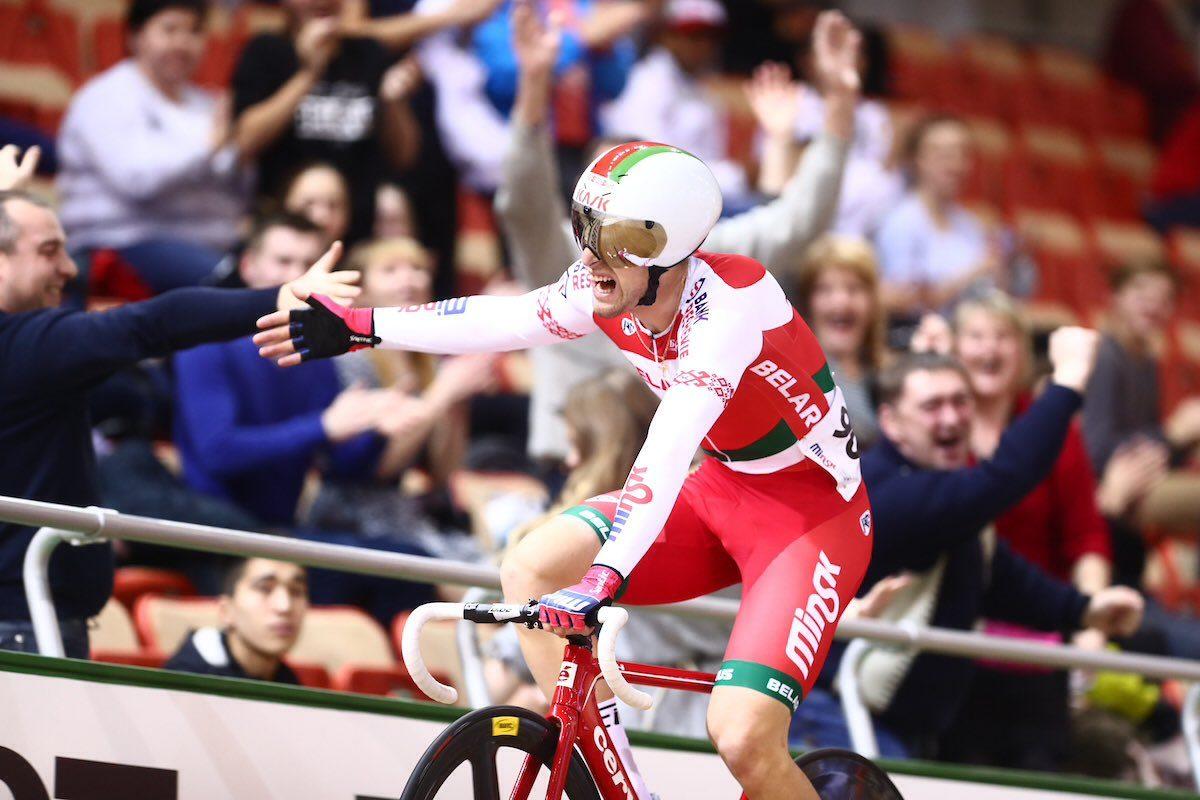 Евгений Королёк оказался сильнейшим в скретче на Кубке мира в Минске