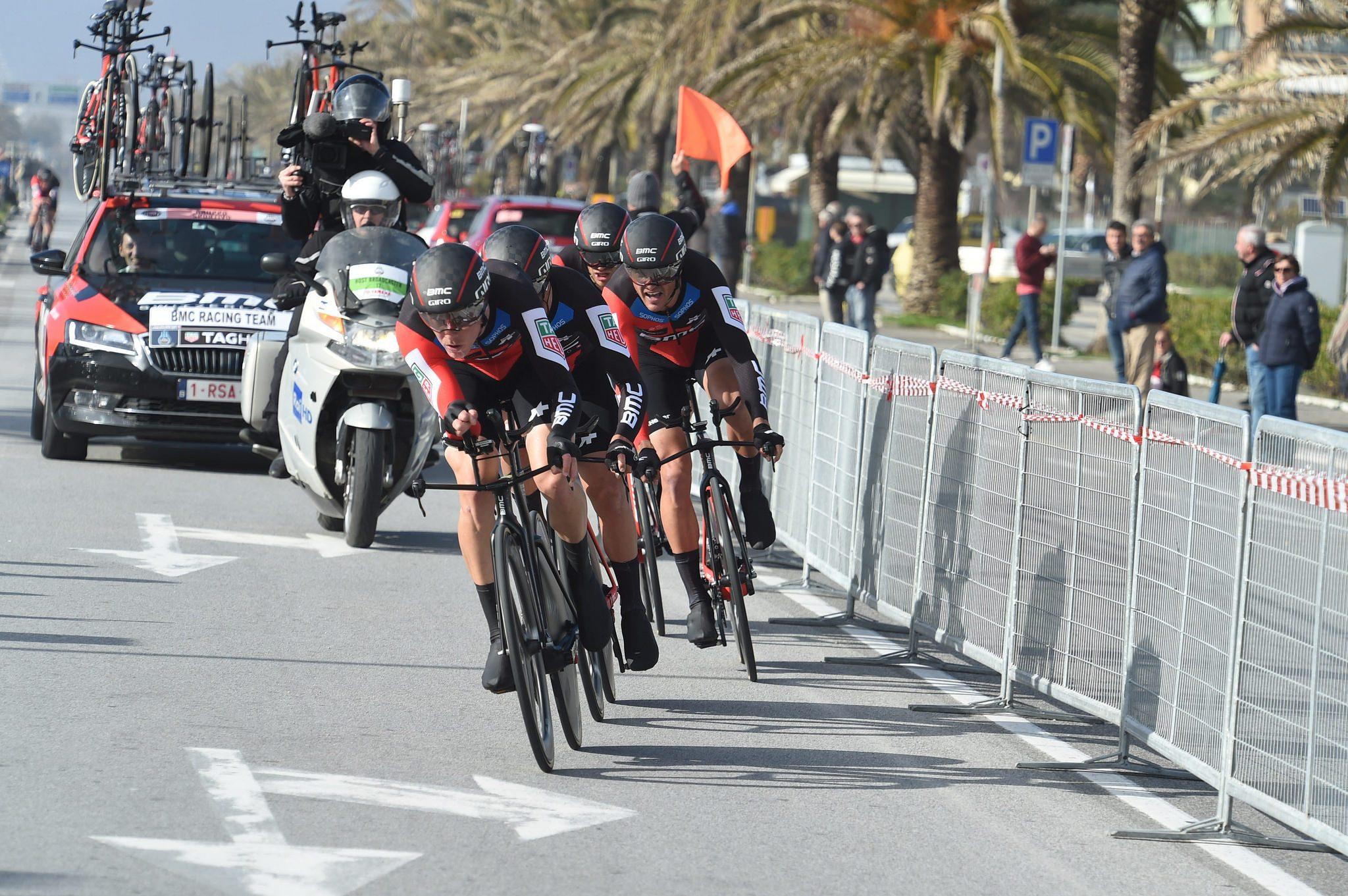 BMC Racing Team третий год подряд выигрывает TTT на велогонке «Тиррено — Адриатико»
