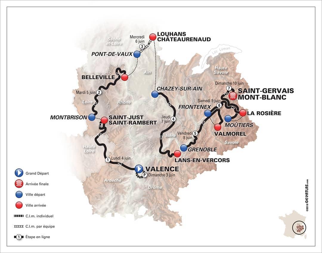 Маршрут «Критериум Дофине — 2018» (Critérium du Dauphiné)