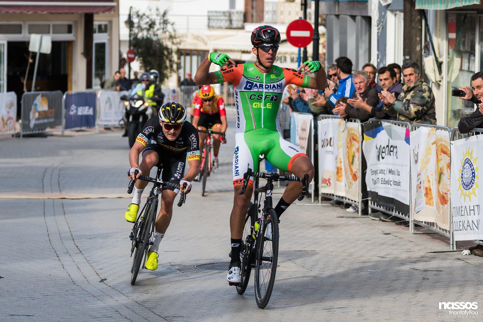 Мирко Маэстри выиграл первый этап греческого «Тура Родоса»