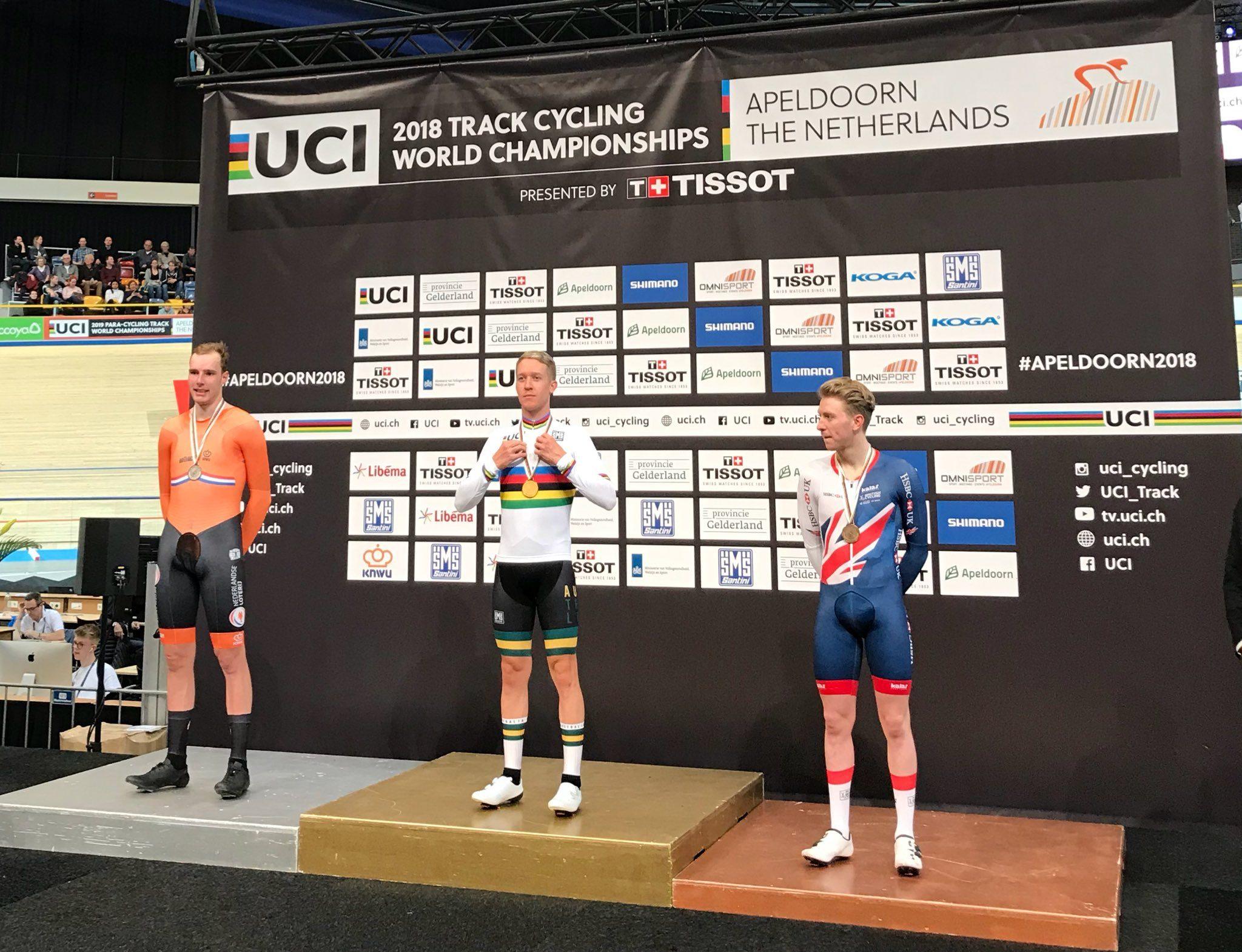 Кэмерон Мейер выиграл гонку по очкам на ЧМ в Апелдорне