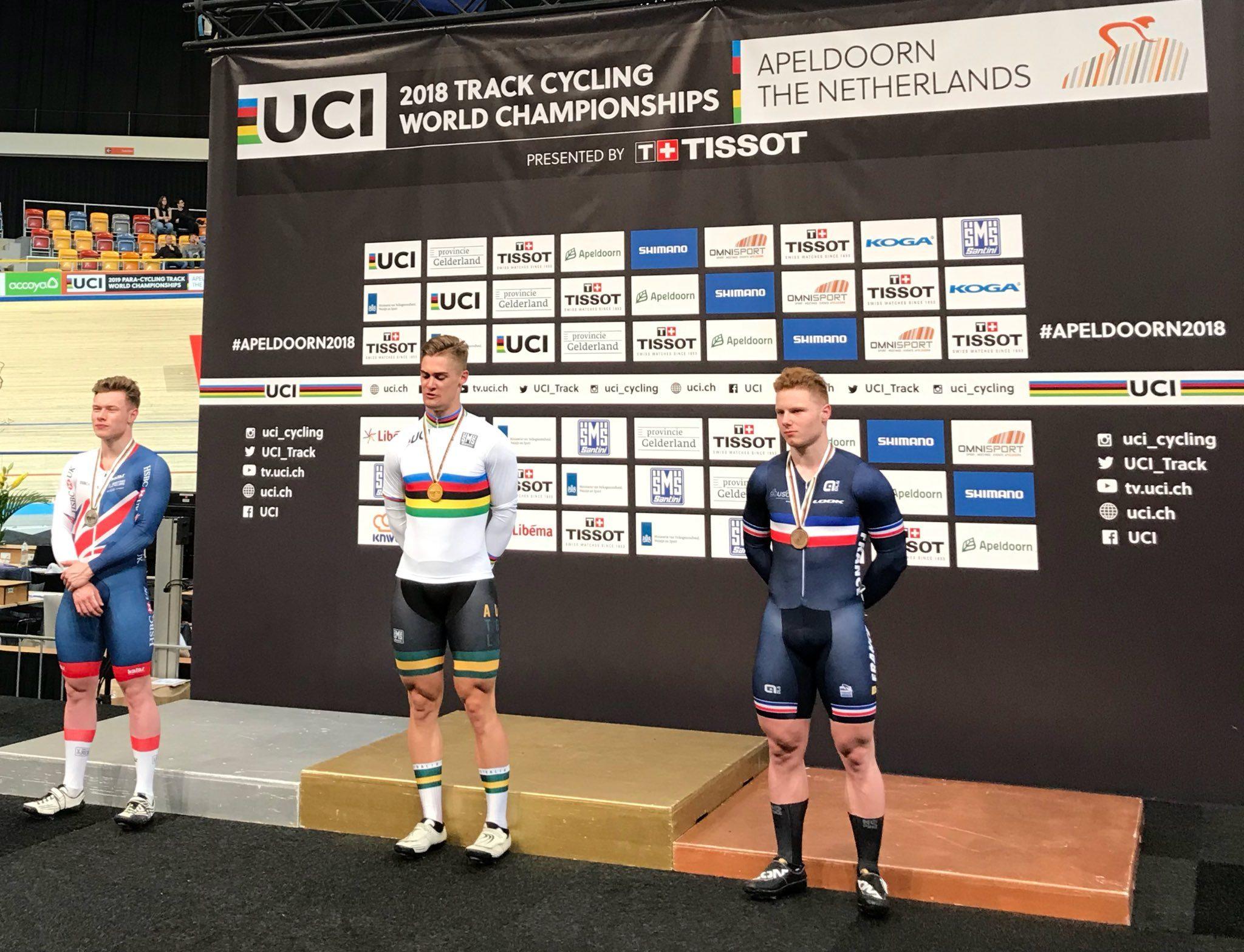Мэттью Глетцер стал чемпионом мира в спринте на ЧМ в Апелдорне
