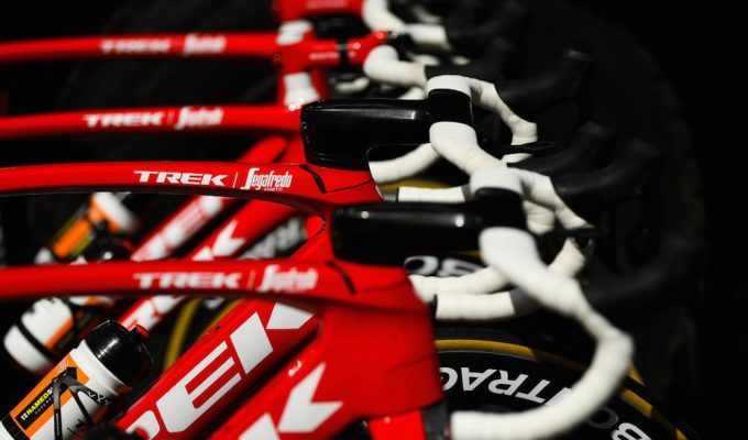 VALLS, SPAIN - MARCH 20: Illustration / Bikes of the riders of the Trek-Segafredo / Bike/ during the 98th Volta Ciclista a Catalunya 2018, Stage 2 a 175,6km stage from Mataro to Valls 237m on March 20, 2018 in Valls, Spain. (Photo by David Ramos/Getty Images)