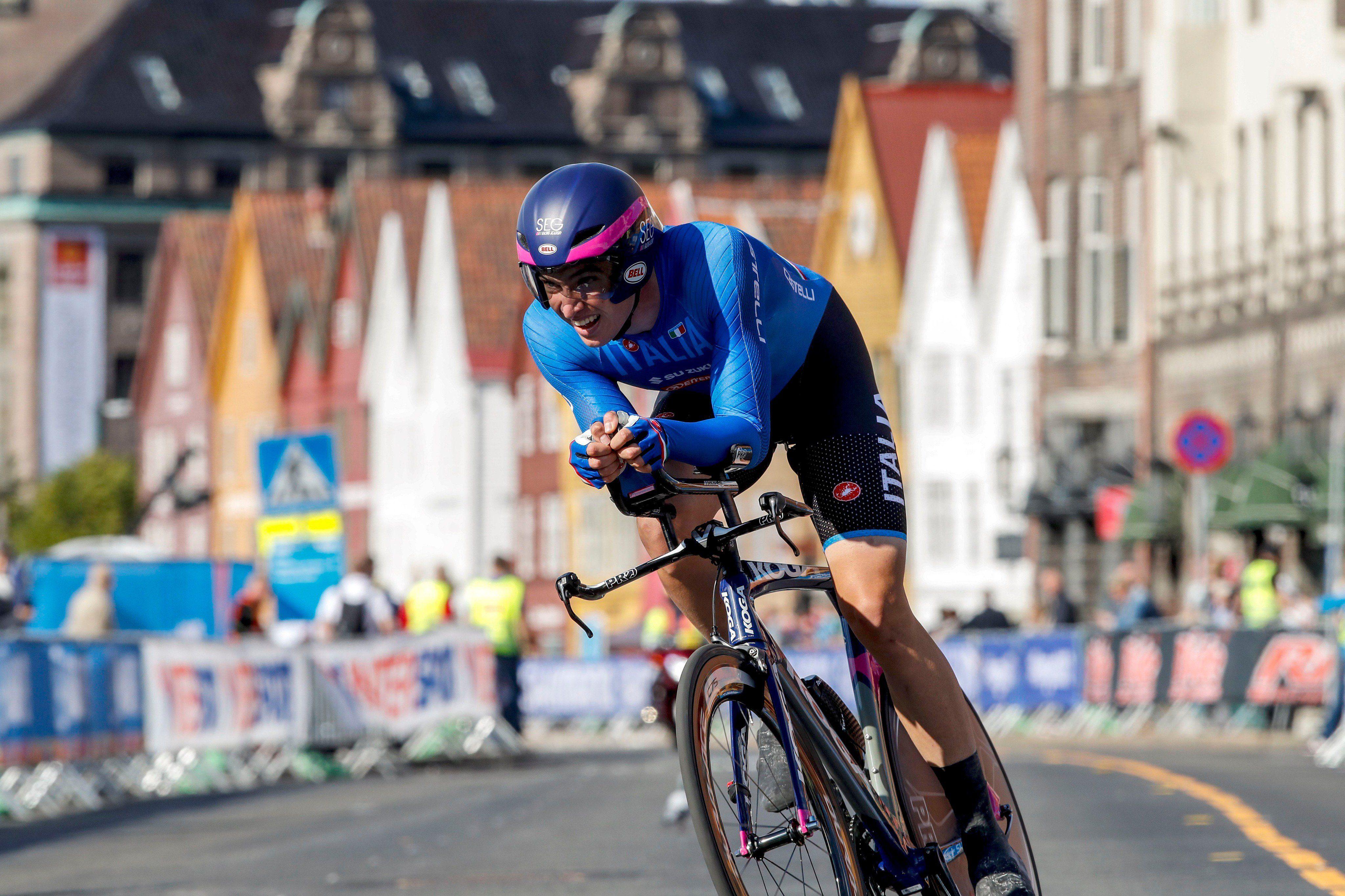 Эдоардо Аффини с лёгкостью завоевал победу на ЧЕ по велоспорту в ITT среди андеров