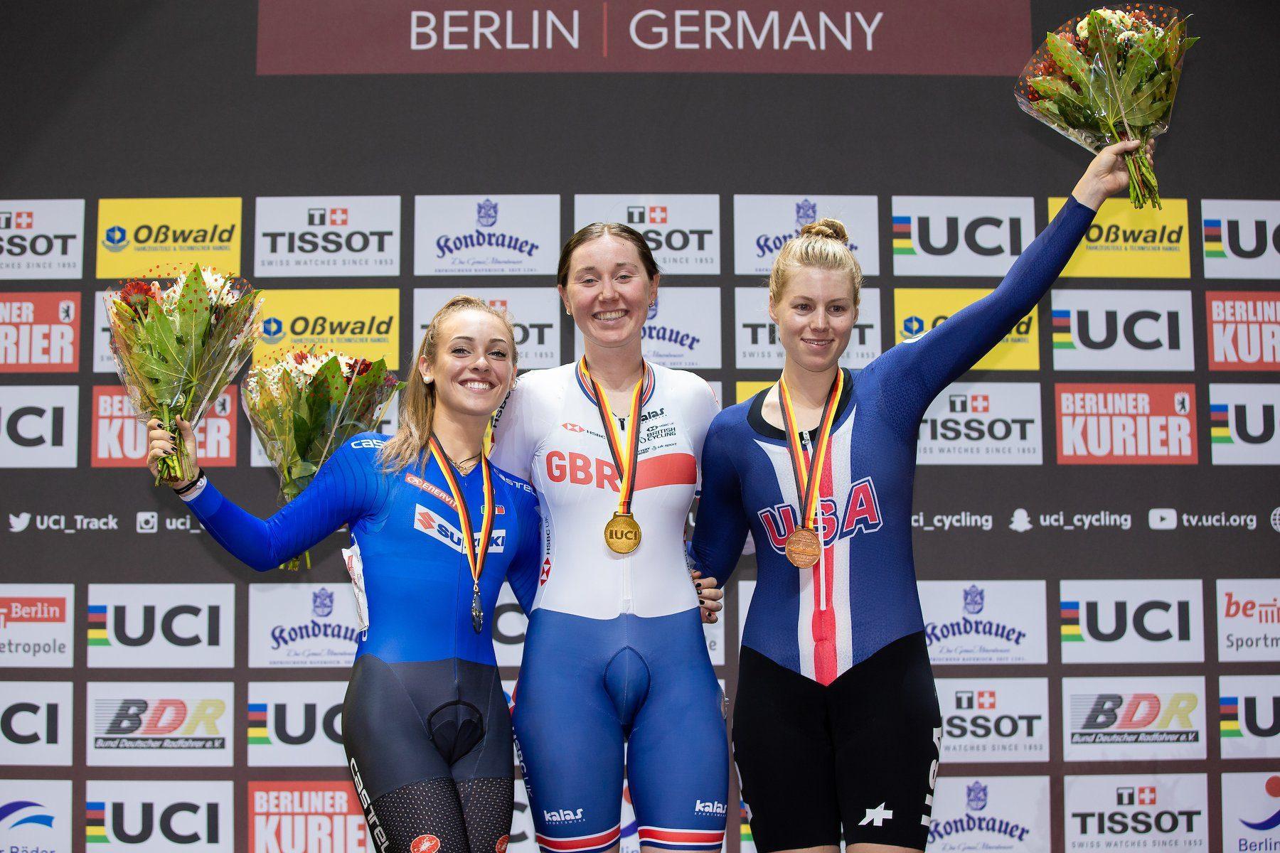 Третий этап Кубка мира по велоспорту на треке в Берлине