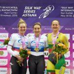 Дарья Шмелёва выиграла спринт на Silk Way Series Astana