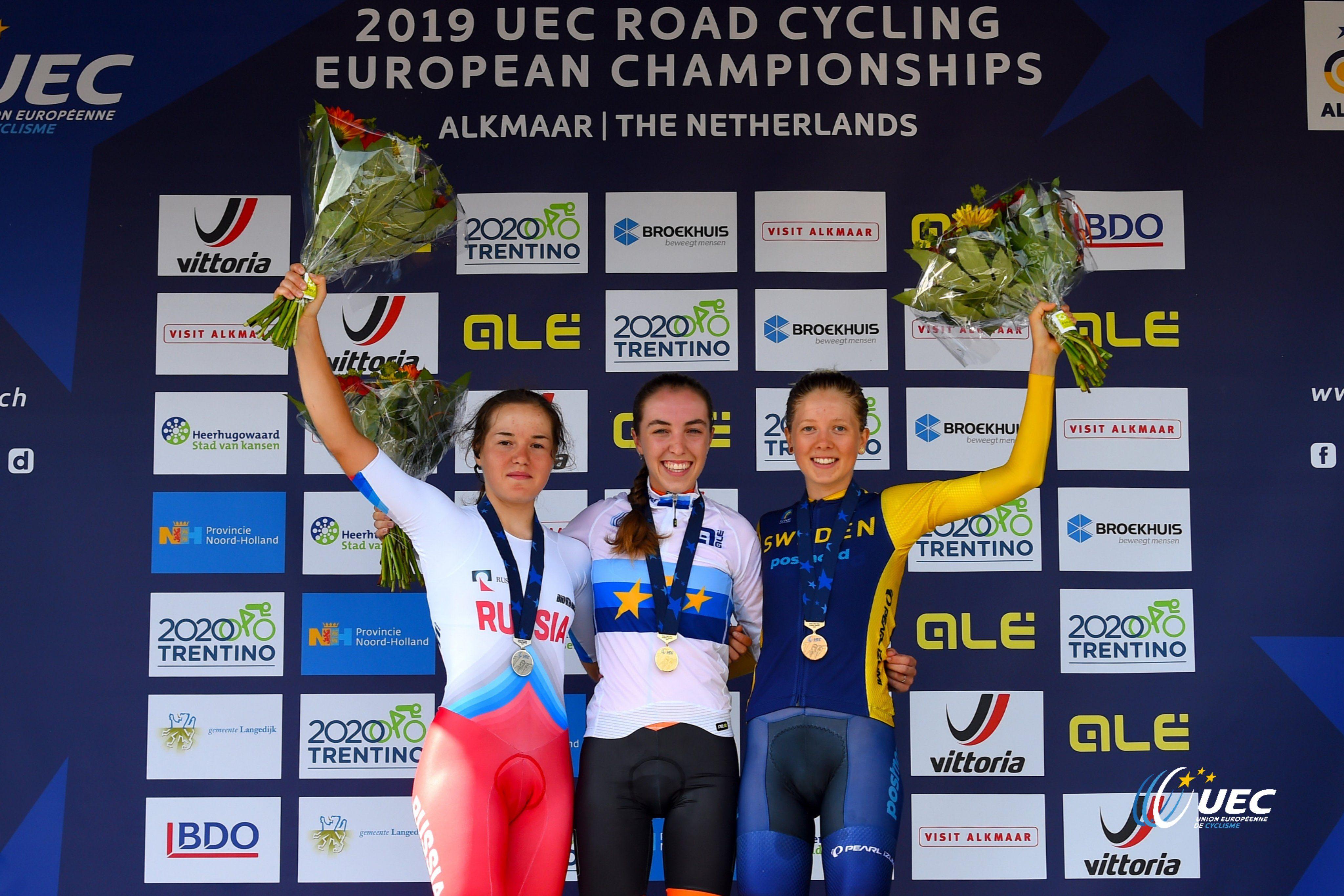 Ширин ван Анрой опередила Айгуль Гарееву на две секунды в борьбе за золото на чемпионате Европы в Алкмаре