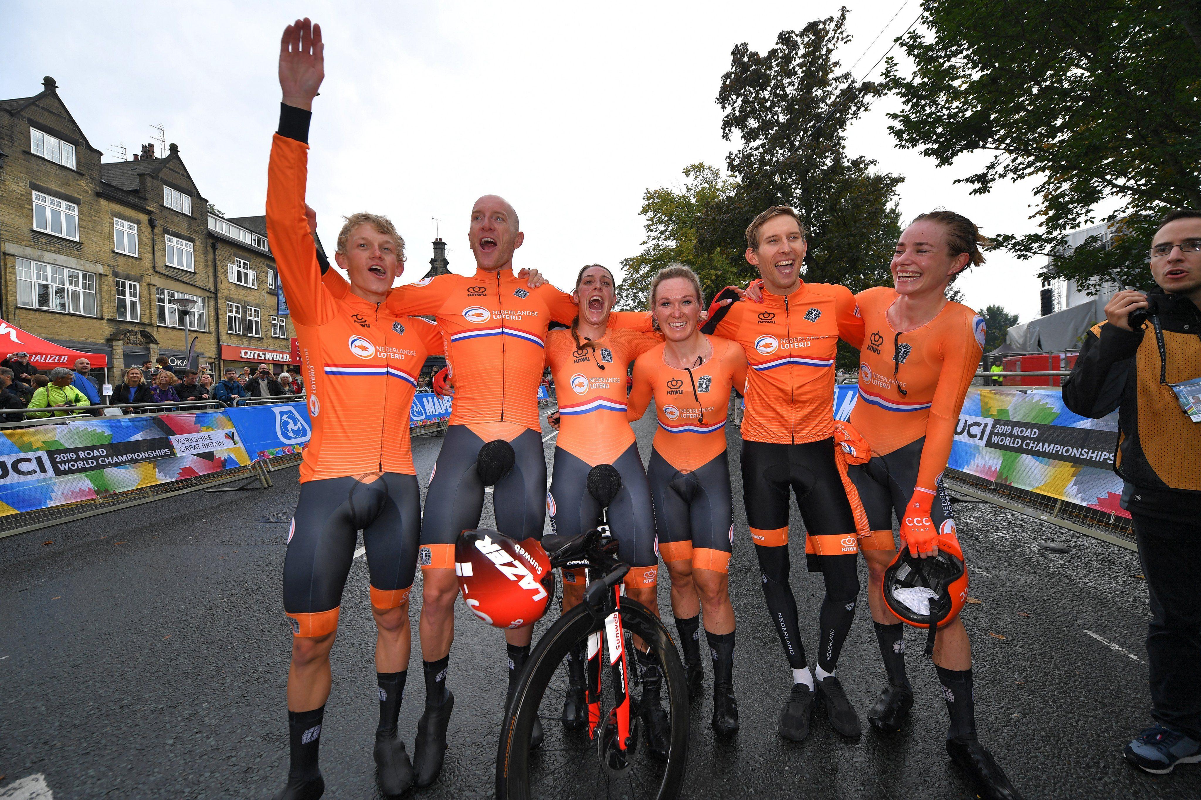 Сборная Нидерландов одержала победу в смешанной эстафете на чемпионате мира по велоспорту