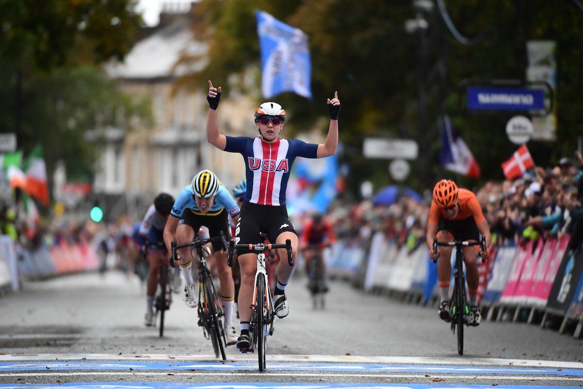 Меган Джастрэб выиграла золото чемпионата мира по велоспорту. Айгуль Гареева — четвёртая