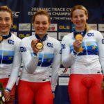 Россиянки одолели немок в командном спринте чемпионата Европы по трековому велоспорту