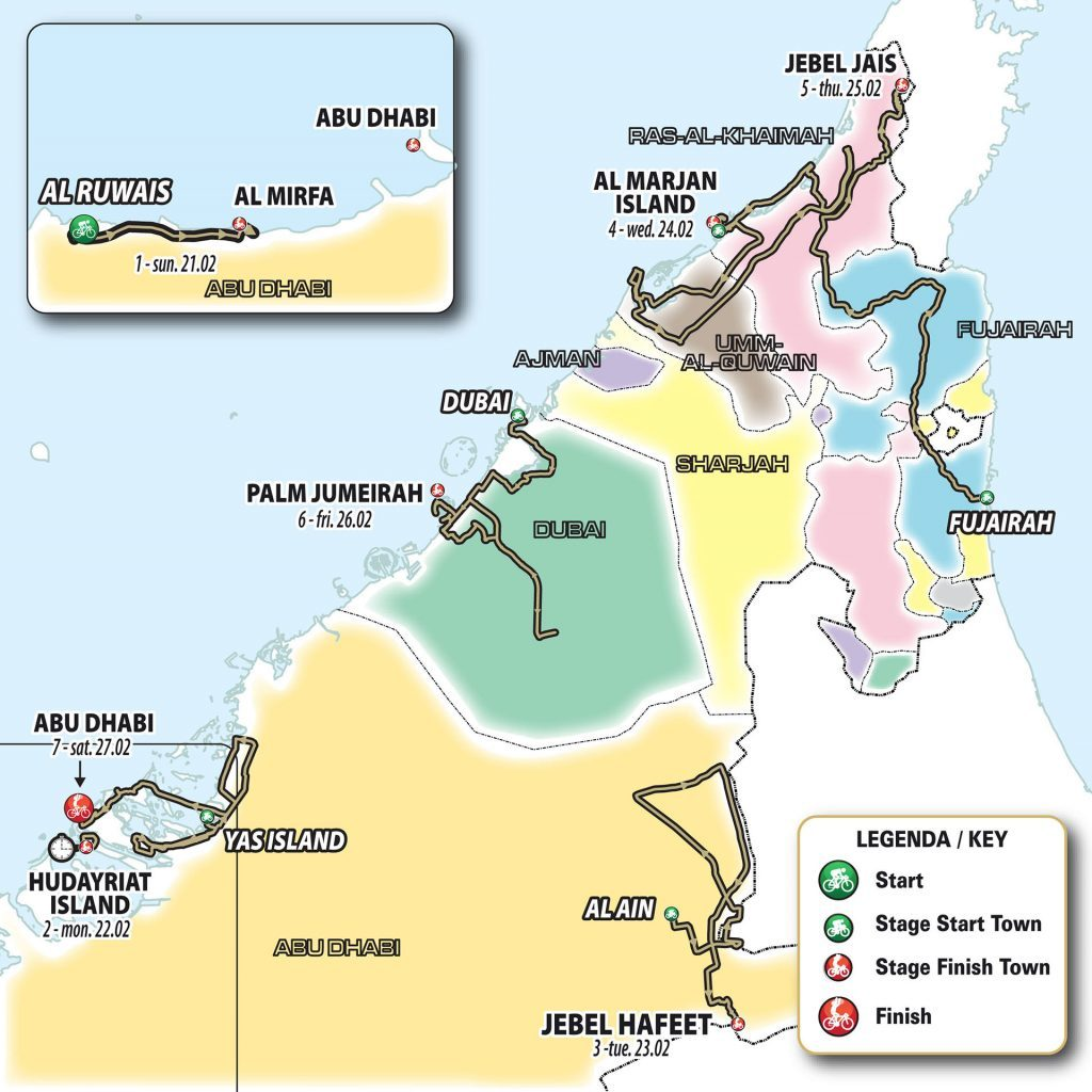Представлен маршрут велосипедного «Тура ОАЭ»