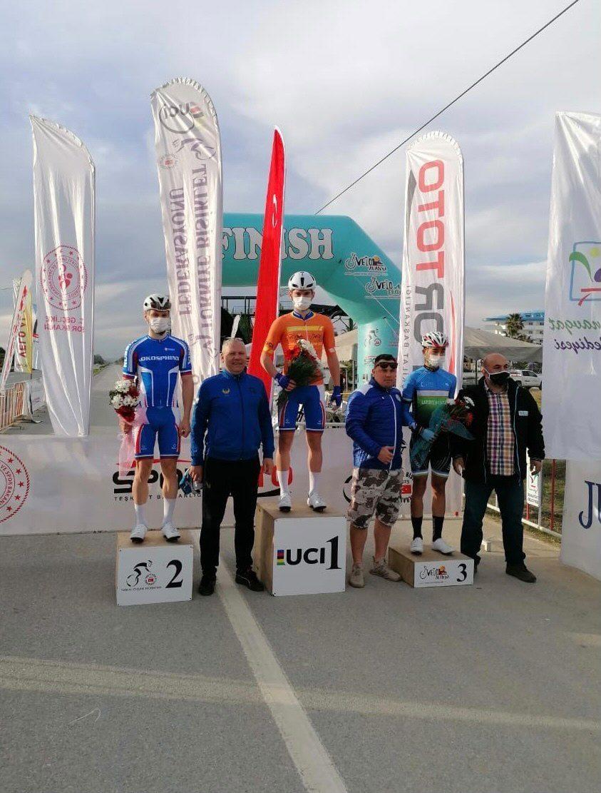 Савелий Лаптев выиграл первый этап велогонки Manavgat Side Junior