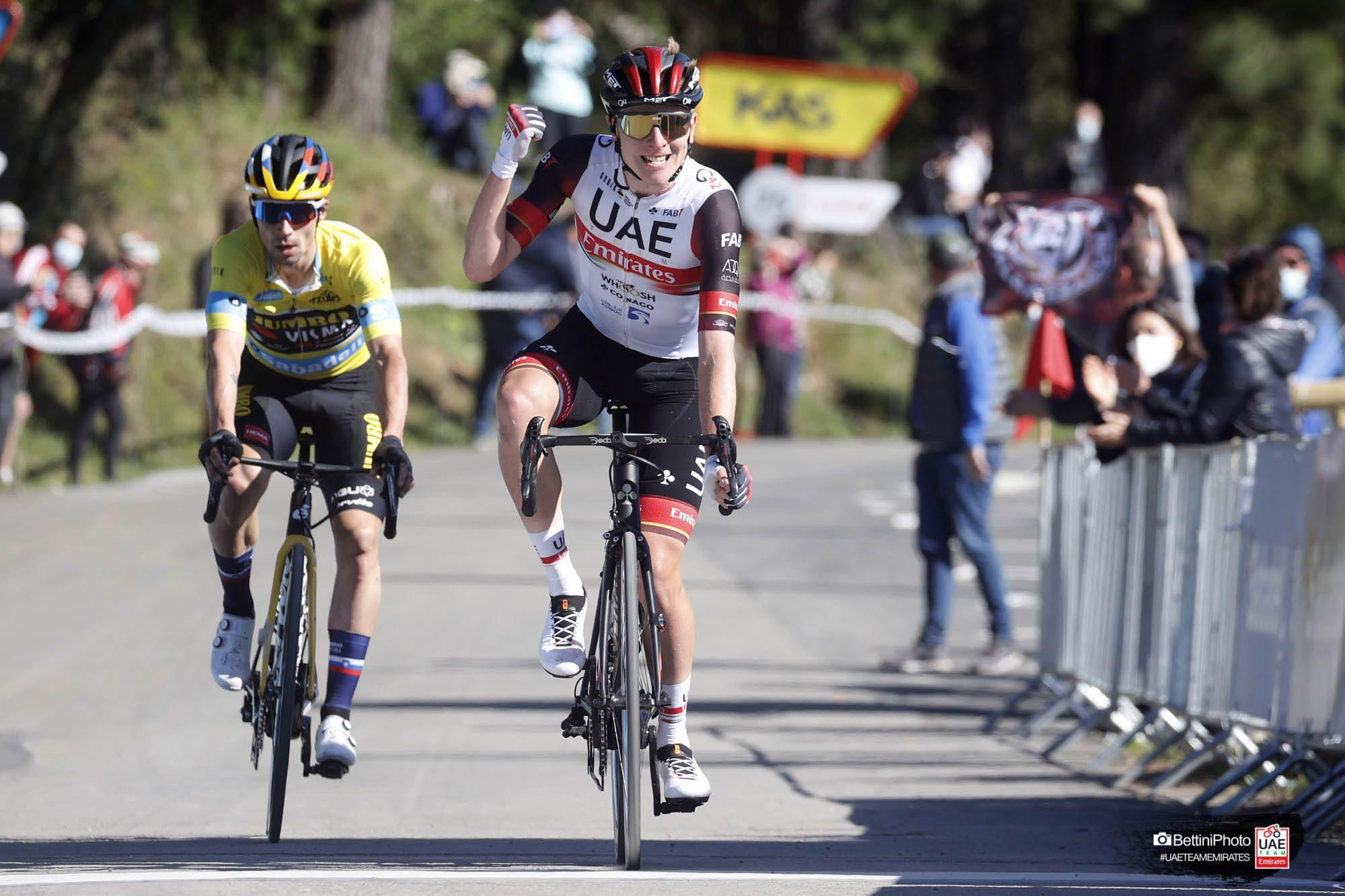 Битва Тадея Погачара и Приможа Роглича на третьем этапе «Тура Страны Басков»