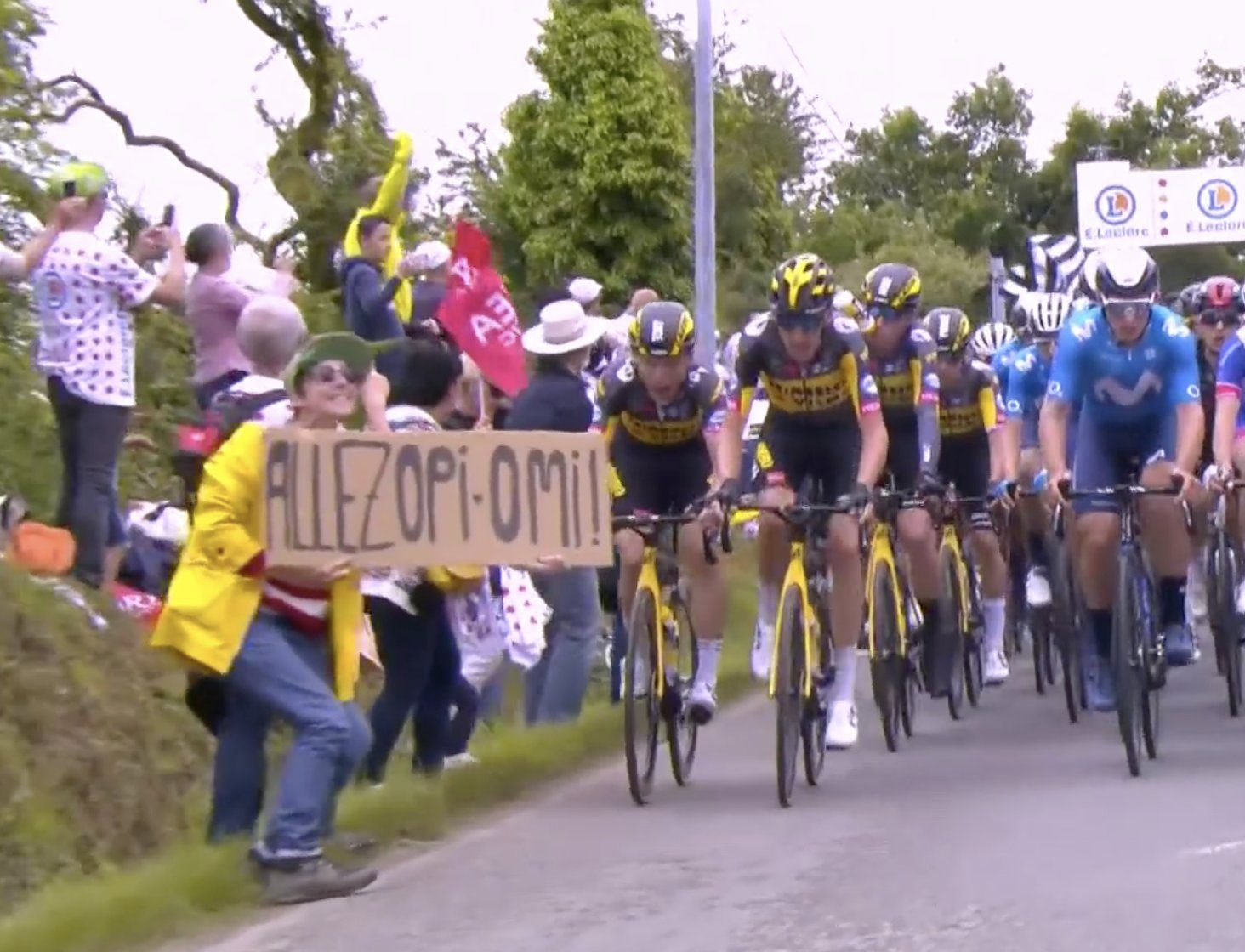 Фанатка спровоцировала огромный завал на первом этапе «Тур де Франс» (видео)