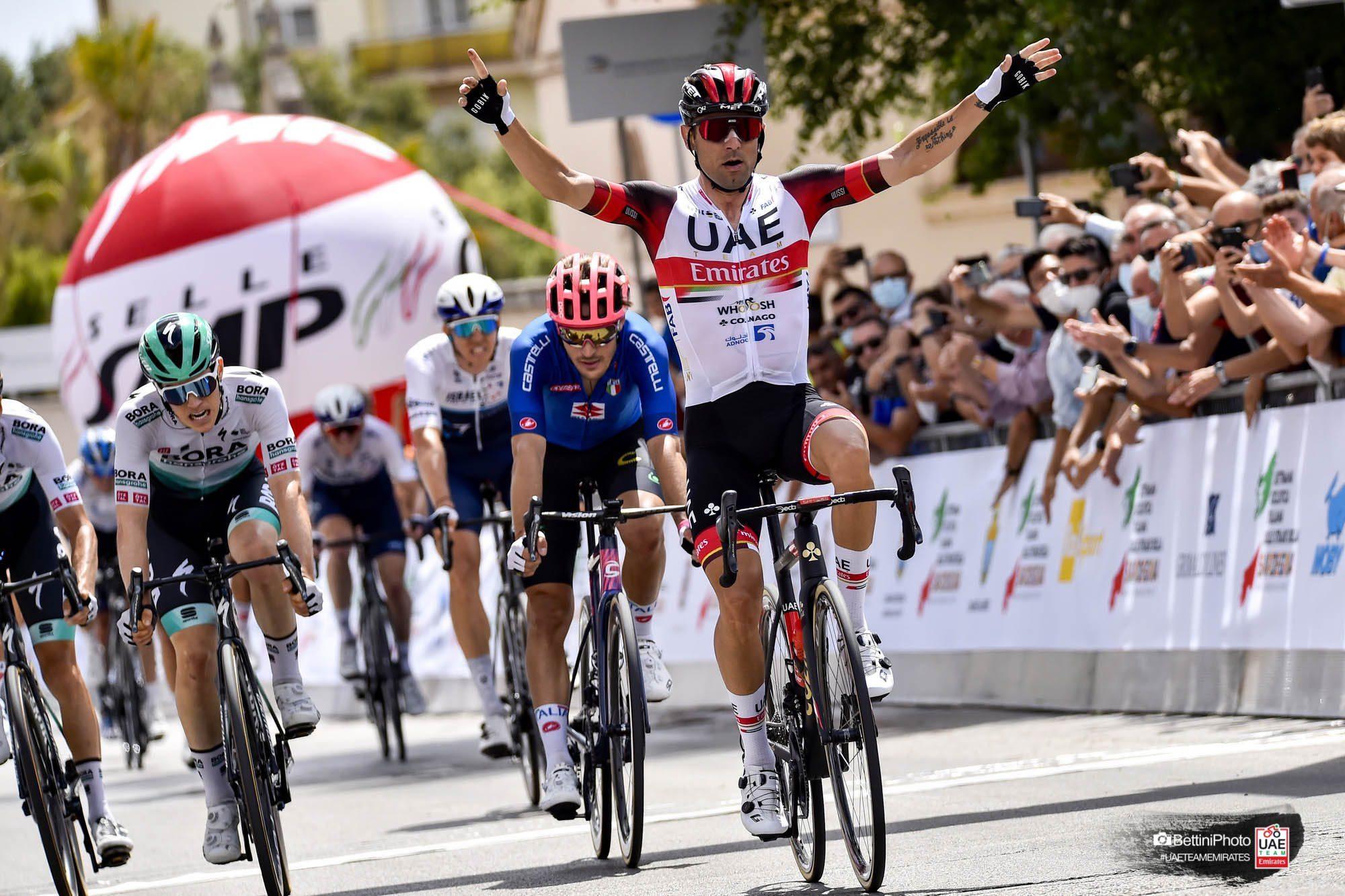 Диего Улисси одержал победу на первом этапе первого издания велогонки Settimana Ciclistica Italiana