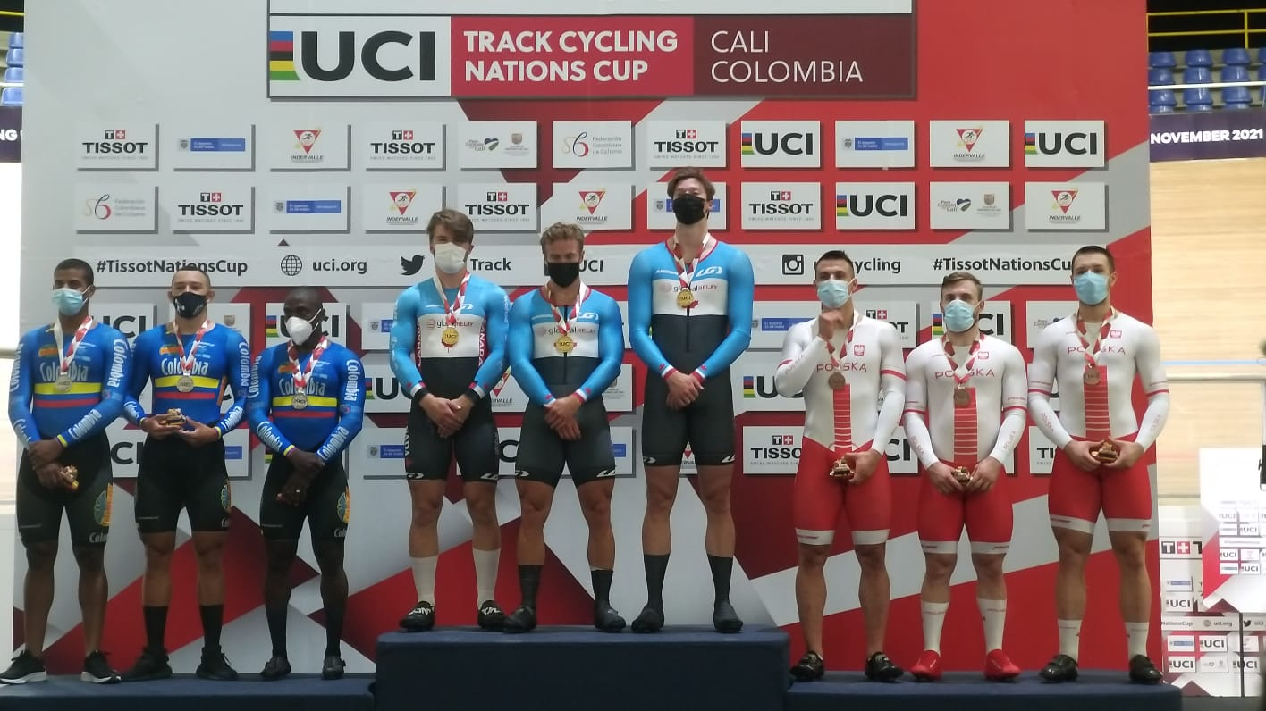 Итоги первого дня этапа Кубка наций по трековому велоспорту в Кали